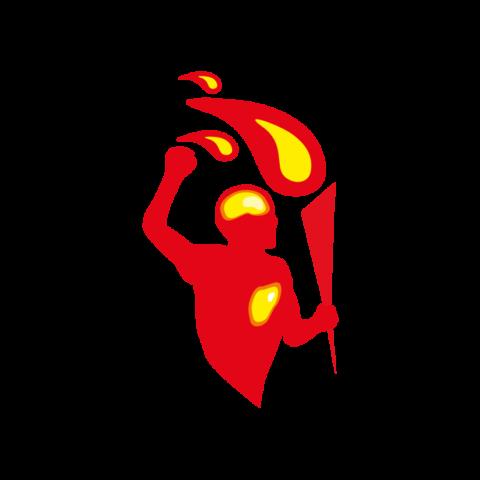 man torch logo