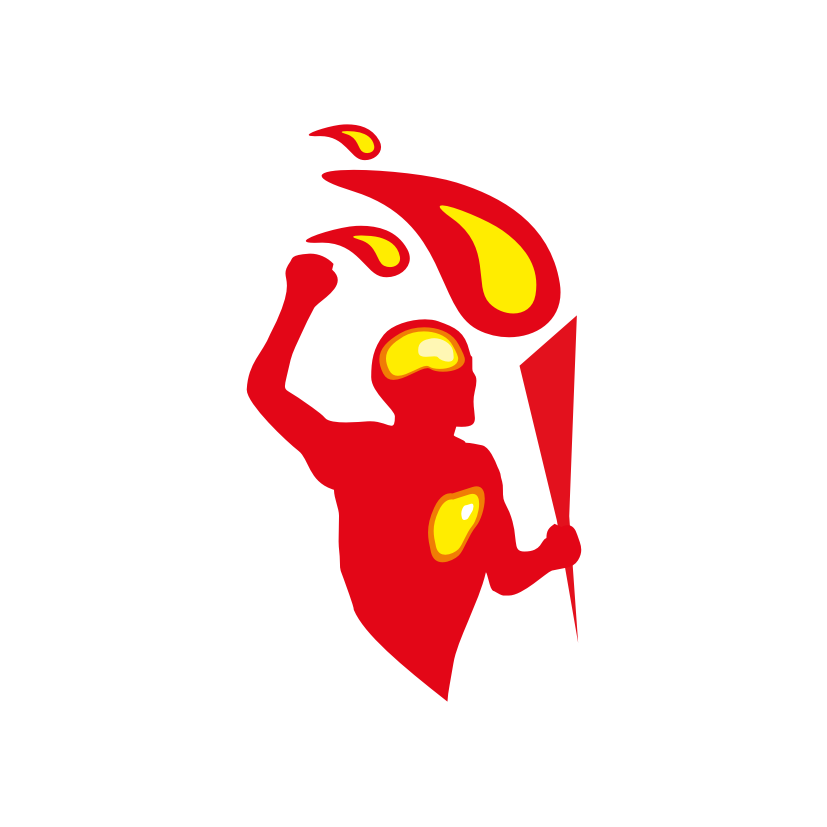 man torch logo