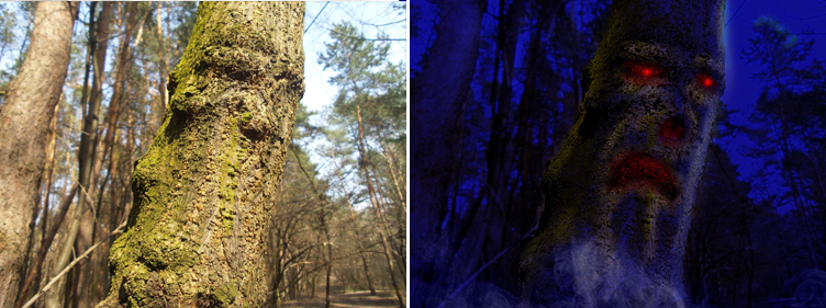 treant, drzewiec fotomontaż