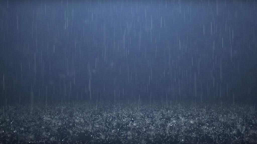 obraz - krople deszczu wykorzystane do stworzenia mozaiki